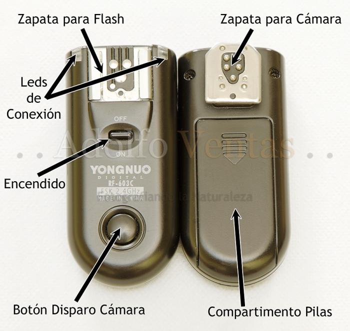 Disparadores por Radiofrecuencia Yongnuo RF-603C