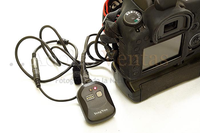 Módulo Receptor Encendido en la cámara remota.